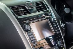 Control panel of audio player and other devices of the car. Control panel of audio player and other devices the car royalty free stock image