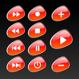 Control panel buttons royalty free stock images
