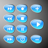 Control panel buttons royalty free illustration
