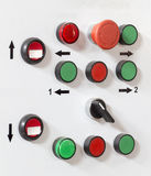 The control panel buttons Royalty Free Stock Image