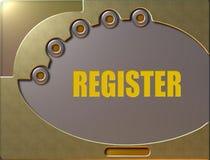 Control panel register stock illustration