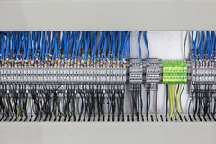 Control panel, cable assemblies Royalty Free Stock Images