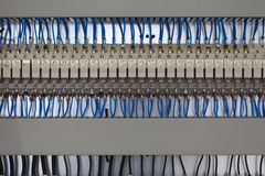 Control panel, cable assemblies Stock Images