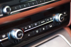 Control panel in a car. Control panel and cd in a luxury car stock image