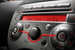 Control panel of car audio player royalty free stock image