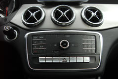 Control panel in car interior Royalty Free Stock Photography