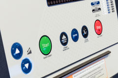 Control panel of cardio machine Royalty Free Stock Image