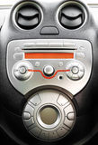 Control panel and cd in modern car Royalty Free Stock Images