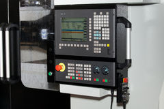 Control panel of CNC machine Royalty Free Stock Photography