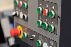 Control panel of CNC machining center Royalty Free Stock Photos