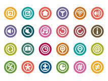 Control Panel Color Icons Stock Images
