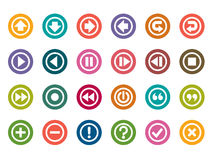 Control Panel Color Icons Stock Photos
