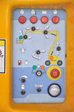 Control panel of construction equipment Stock Images
