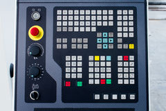 Control panel. Detail of modern industrial control panel royalty free stock images