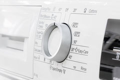 Control panel details of laundry machine Royalty Free Stock Photo