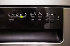 Control panel of the dishwasher Royalty Free Stock Images