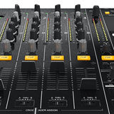 Control panel dj mixer equipment, close view Stock Photo