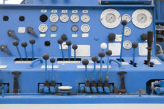 Control Panel Drilling Oil Stock Photo