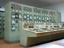 Control panel at electric power plant Stock Photography