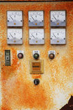 Control panel of an electrical Royalty Free Stock Image