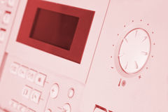 Control panel of gas boiler royalty free stock photography