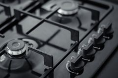 Control panel for gas hob. Control panel for kitchen gas hob, close-up photo royalty free stock photos