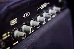 Control panel of guitar amplifier Royalty Free Stock Photography