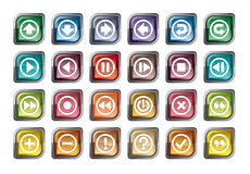 Control Panel Icons Stock Images