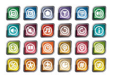 Control Panel Icons Royalty Free Stock Photo