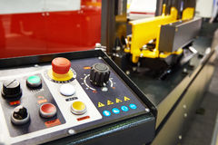 Control panel for industrial machine Royalty Free Stock Image