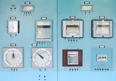 Control panel with instrumentation Royalty Free Stock Image