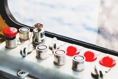 Control panel,key switch Stock Photos