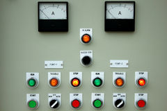 Control panel lights. Royalty Free Stock Photo