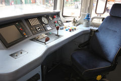 Control panel of a locomotive Royalty Free Stock Photos