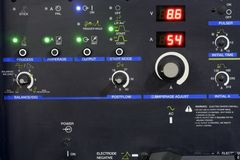 Control panel of a machine Stock Photography