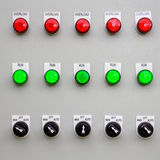 Control panel on manufacturing Stock Photography