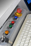 Control panel  modern machine Stock Photo