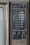 Control Panel Of Old Classic Color Analog Television Royalty Free Stock Photos