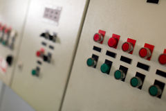 Control panel in oil manufacturing Royalty Free Stock Photos
