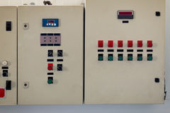 Control panel in oil manufacturing Stock Photos