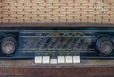 Control panel of old classic analog radio receiver Stock Photography