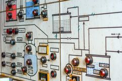 Control panel in old laboratory Royalty Free Stock Image