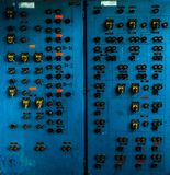 Control panel in old laboratory Stock Photo