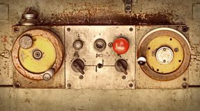 Control panel of old machine Royalty Free Stock Images