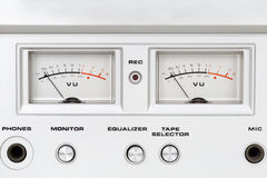 Control panel of old reel tape recorder Stock Photography