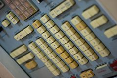Control Panel of the Old Space Station 4 Stock Photography