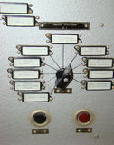 Control panel of the operator. Of a rocket complex royalty free stock photos