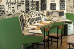 Control panel of a power plant Royalty Free Stock Photography