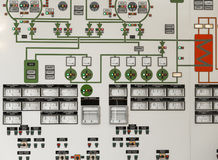Control panel of a power plant Stock Photography