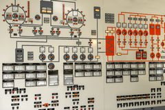 Control panel of a power plant Stock Photos